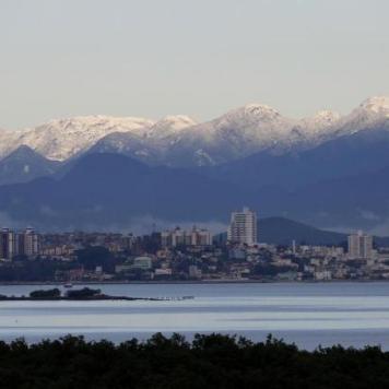 Neve na Serra do Tabuleiro - Palhoça, SC