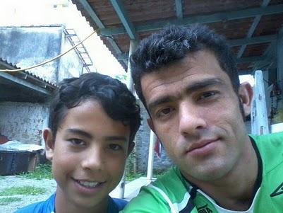 Mateus e eu na casa de minha mãe 13-11-2011