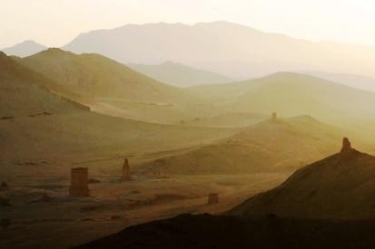 Deserto - caminho entre Jerusalém e Damasco, fronteira com a Síria