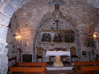Interior da Igreja dedicada ao apóstolo Paulo em Damasco
