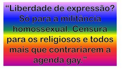 Liberdade de expressão apenas para os Gayzistas!