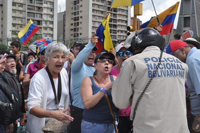 Protestos nas ruas da Venezuela