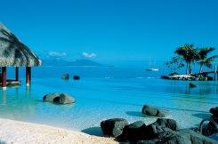 Praia no Taiti, Polinésia Francesa