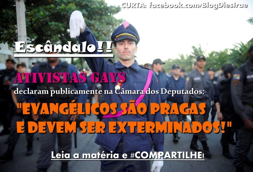 """Militantes gayzistas dizem: """"Evangélicos devem ser exterminados"""""""