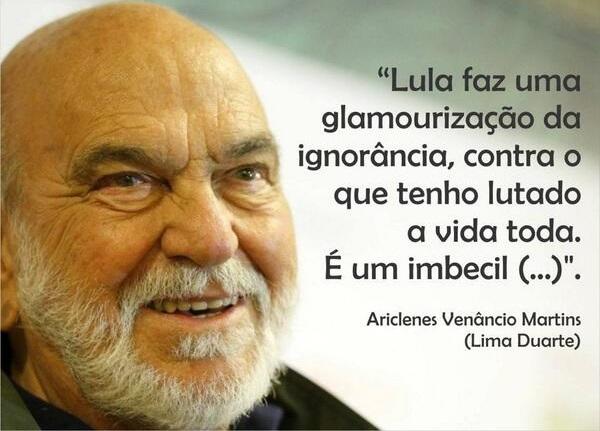 Lima Duarte sobre Lula