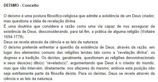 O que é Deísmo?