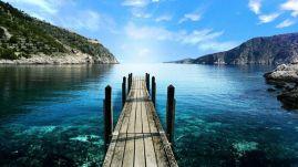 Decisão, descanso, transparência, reflexo, lago (local desconhecido)
