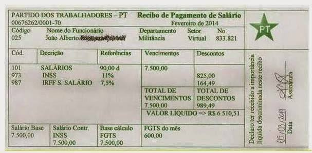 Militante do PT na Internet (MAV) chega a ganhar 7.500 reais de salário.