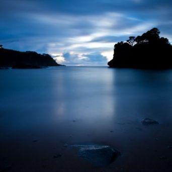 Reflexo do mar, anoitecer (local desconhecido)