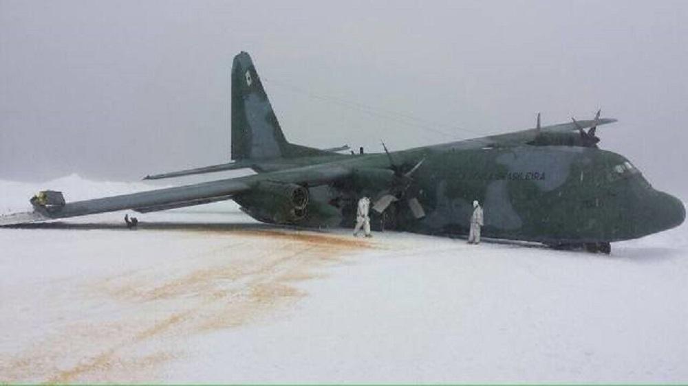 Hércules c-130 na Antártida