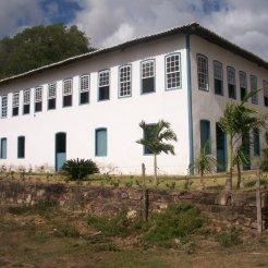 Fachada de uma típica Casa Grande nos tempos coloniais