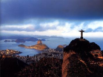 Vista panorâmica da cidade de Rio de Janeiro, fundada em 1565 por Estácio de Sá
