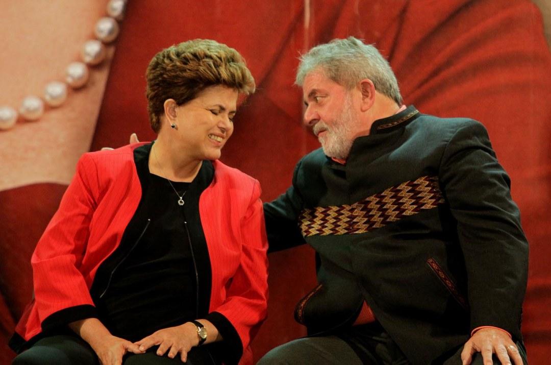 Lula e Dilma no fundo do poço